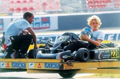 Hamilton and Rosberg Karting