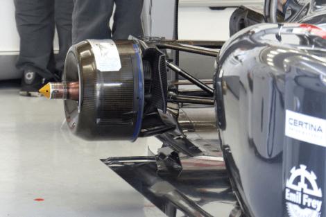 Sauber C33 rear brake duct detail