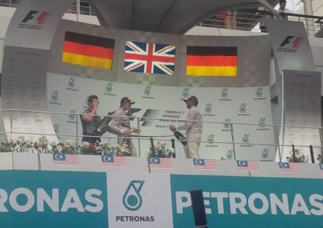 2014 Malaysian Grand Prix Podium