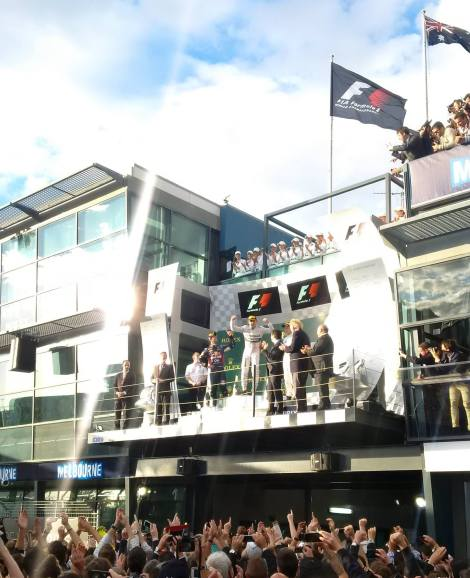 2014 Rolex Australian Grand Prix Podium