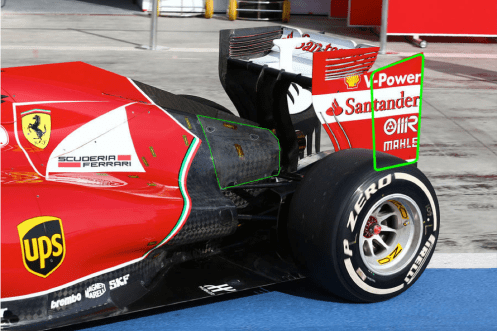 Picture 13 - Ferrari F14-T rear wing end plate detail