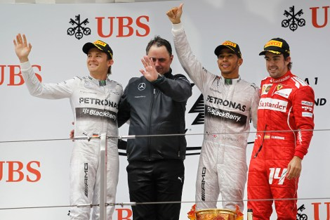 2014 Formula 1 UBS Chinese Grand Prix Podium