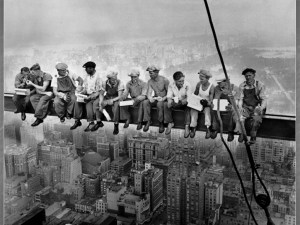 Lunchtime atop a Skyscraper (1932)