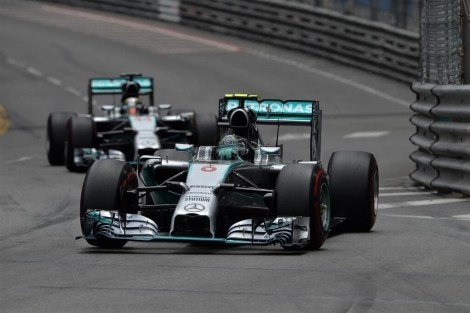Mercedes 1-2 MonacoGP 2014