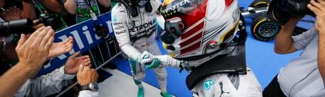 2014 AustrianGP winner and 2nd - Nico Rosberg and Lewis Hamilton