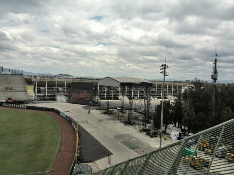 The stage, photo taken from the baseball stadium