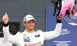 Jenson Button qualifying British Grand Prix