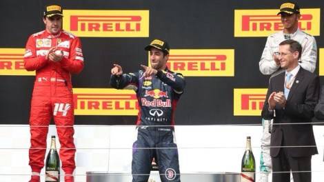 2014 HungarianGP Podium