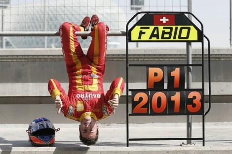 Hardly camera shy - Leimer celebrates his 2013 Championship