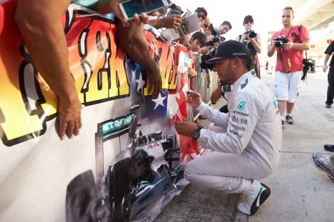 2014 US GP Winner - Lewis Hamilton