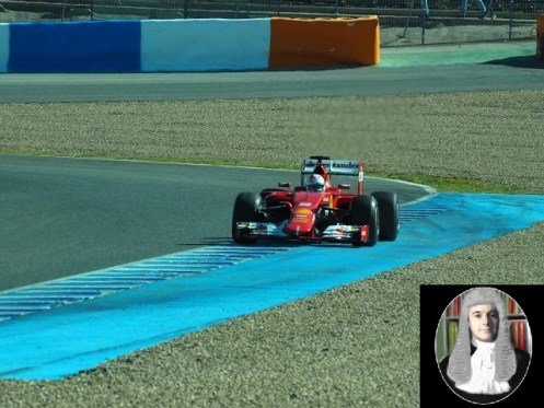 Vettel ended the day on top during his Ferrari debut