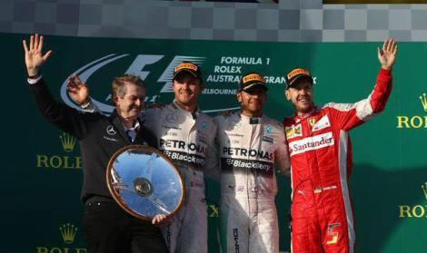 2015 Australian GP Podium