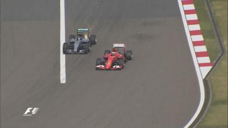 Chinese GP on track fight