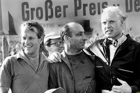 Collins, Fangio and Hawthorn