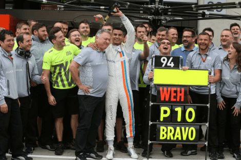 manor f1 score point