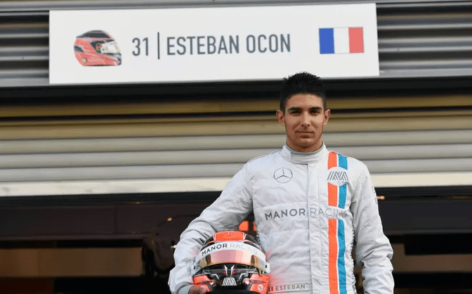 Ocon at Manor, now racing at force india 2017