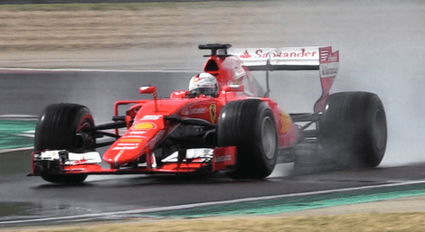vettel-testing-2017-wet-pirelli-using-2015-ferrari