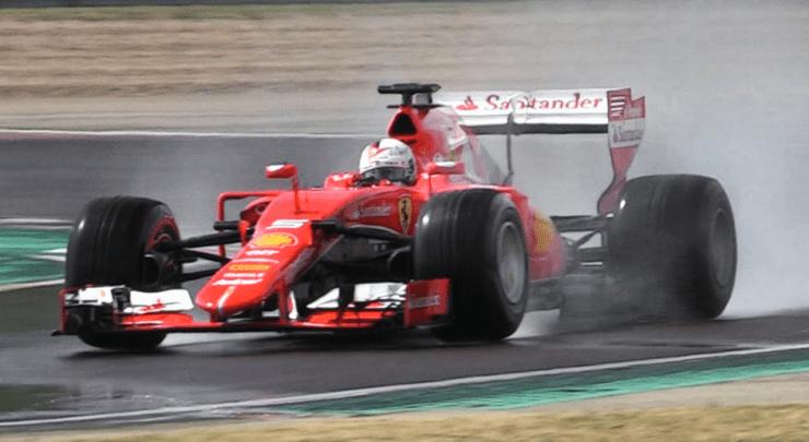 vettel-testing-2017-wet-pirelli-using-2015-ferrari