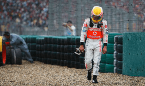 Hamilton 2007 Chinese Grand Prix gravel2
