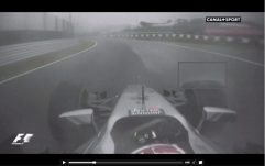 View of Kevin Magnussen, 2 laps prior to Sutil crash. Dunlop curve.