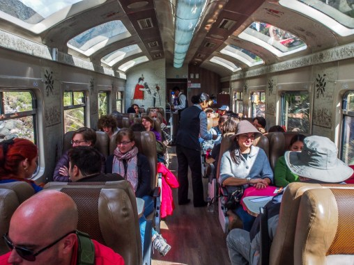 Train ride from Cusco to Aguas Calientes