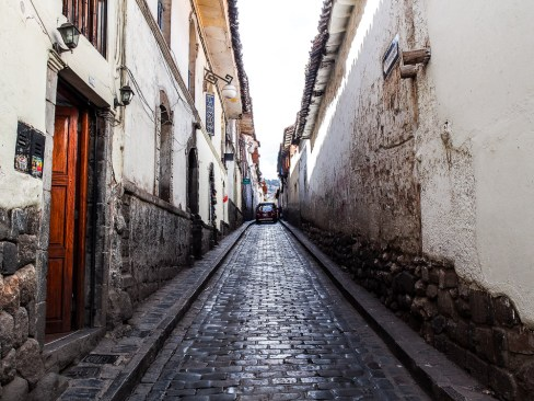 Narrow streets of Cusco