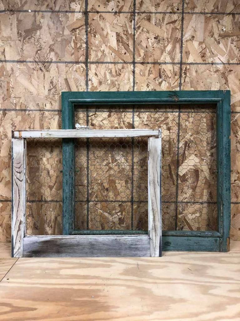 DIY, The Junk Parlor shows you how to add chicken wire to a window frame.