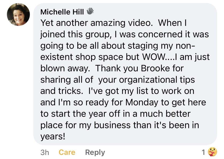 Michelle Hill Testimonial 2