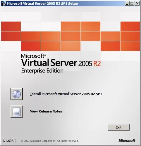 Virtual Server 2005 R2 Enterprise Edition
