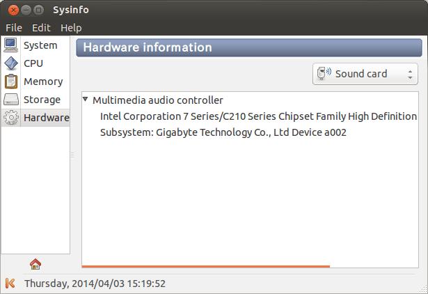Sysinfo Hardware Information (Sound Card)