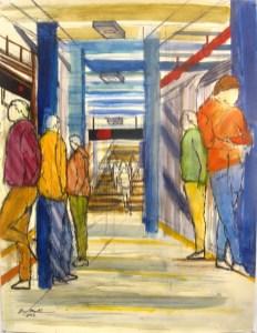 14th and Seventh Subway Platform - Enrico Miguel Thomas