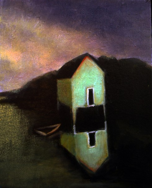 An Island, oil on panel, courtesy of author