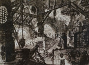 "Giovanni Battista Piranesi, etching, ""Prison"" 1761, Italian."