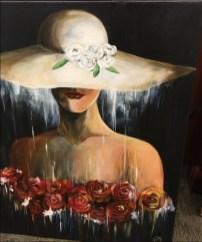 Lady in Hat Canvas by Jacek Kolodziejczyk