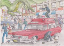 1973 Cadillac Ambulance by D. Ashton