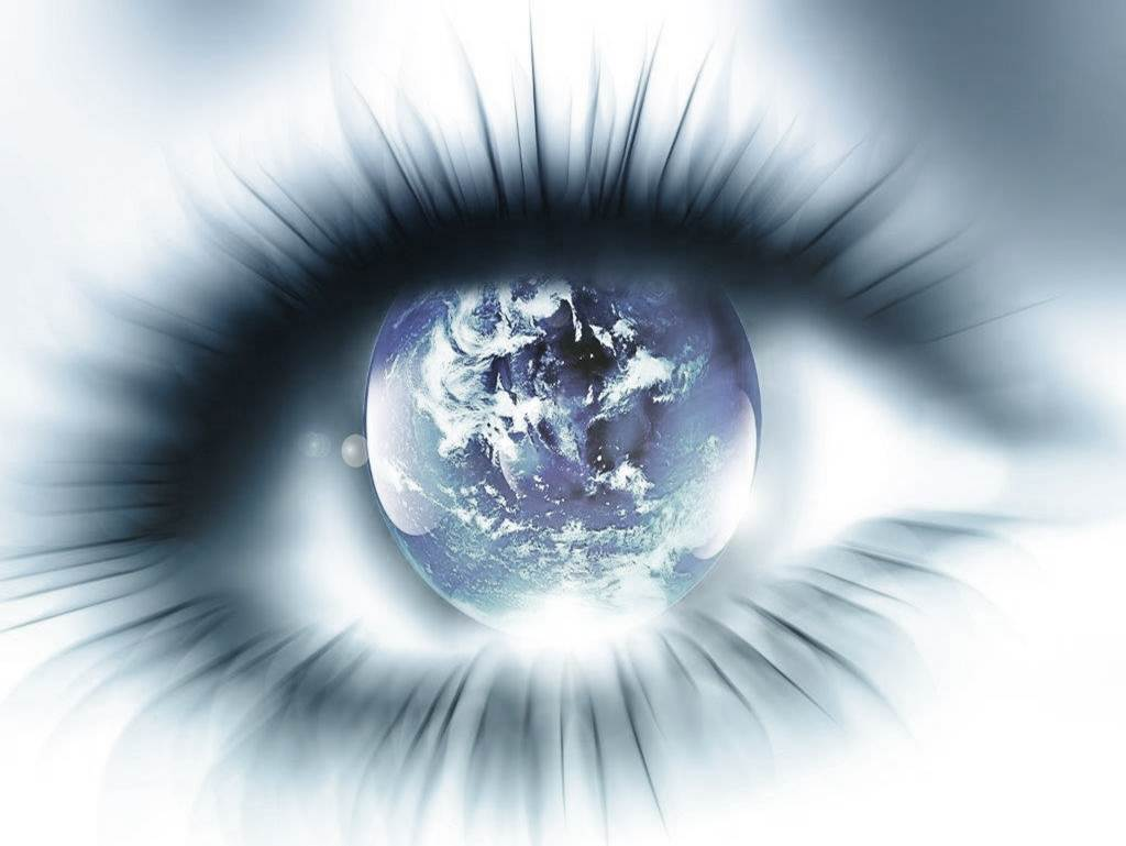 The human eye seeing the world as it actually it.