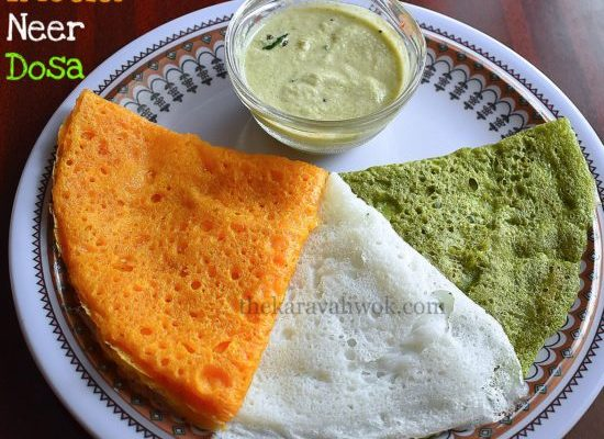 Tri Color Neer Dosa – Independence Day Special