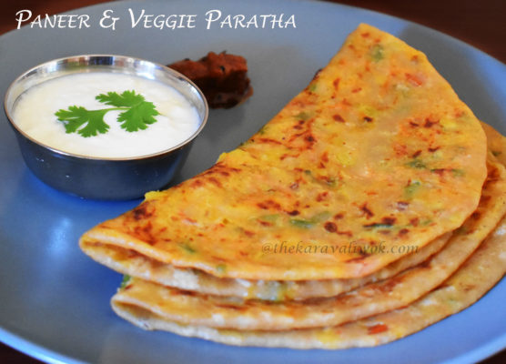 Paneer and Mixed Vegetable Paratha-Healthy Paratha
