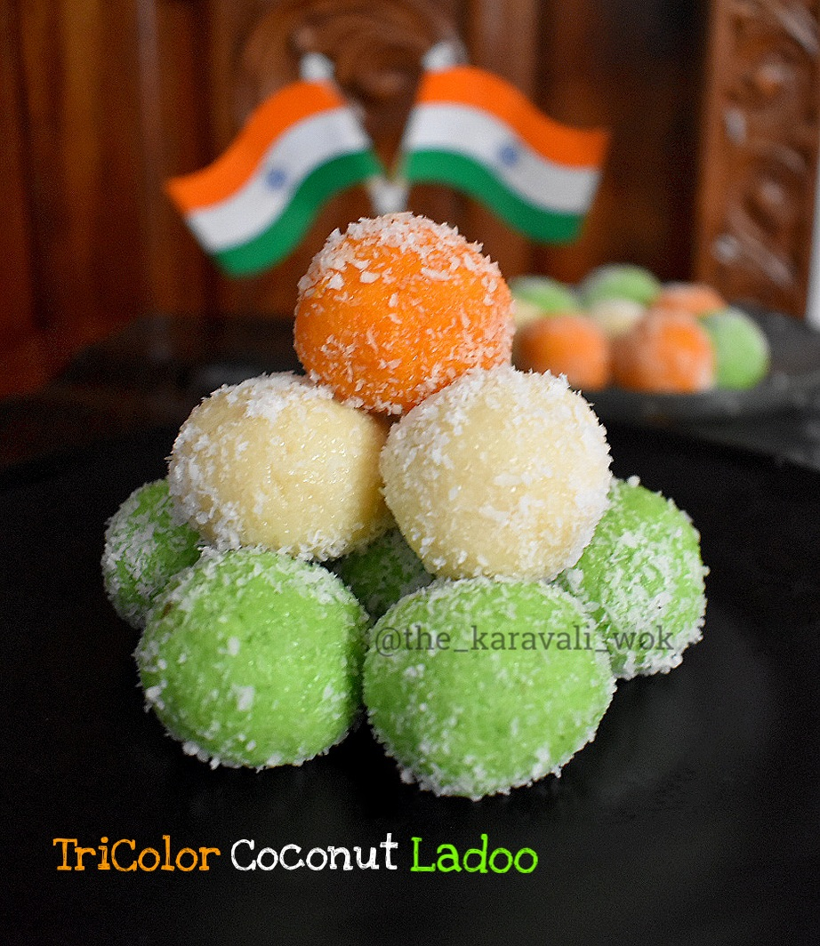 TriColor Coconut Gulkand Ladoos | Independence Day Special