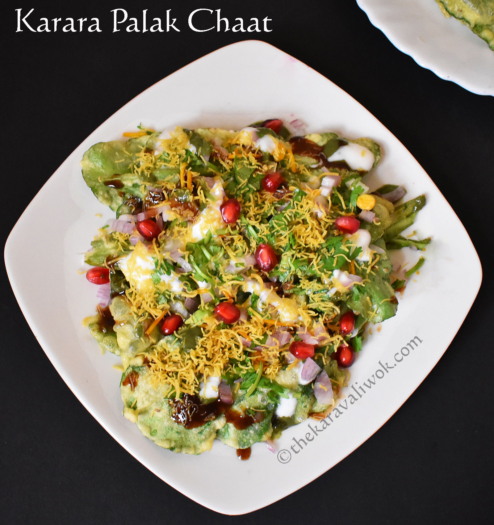 Karara Palak Chaat Recipe | Palak Pakora Chaat