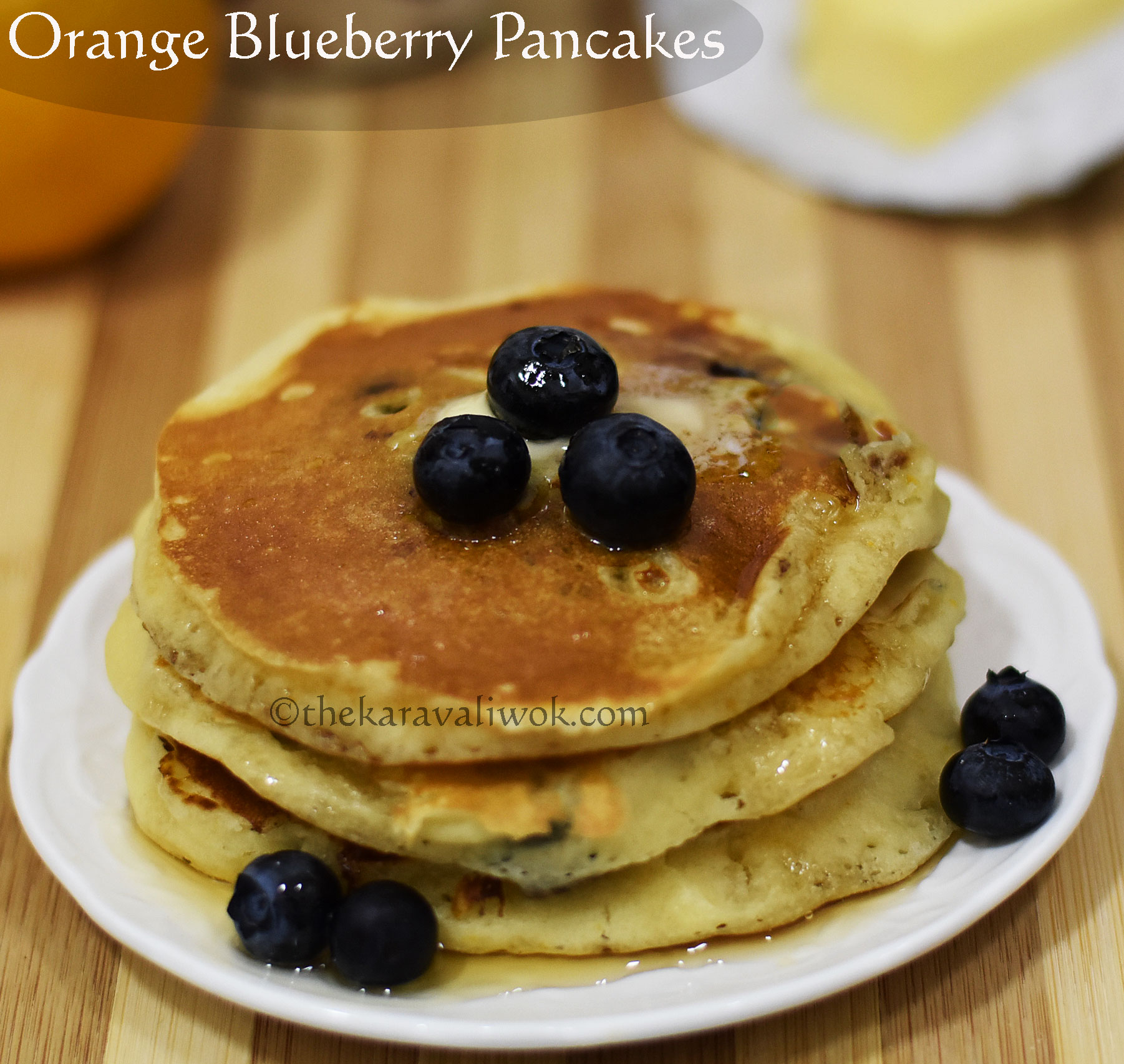 Orange Blueberry Pancakes