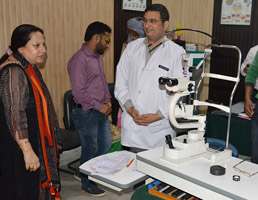 Asiea Naqash inaugurates surgical camp, retina care services camp at Rotary Eye Hospital