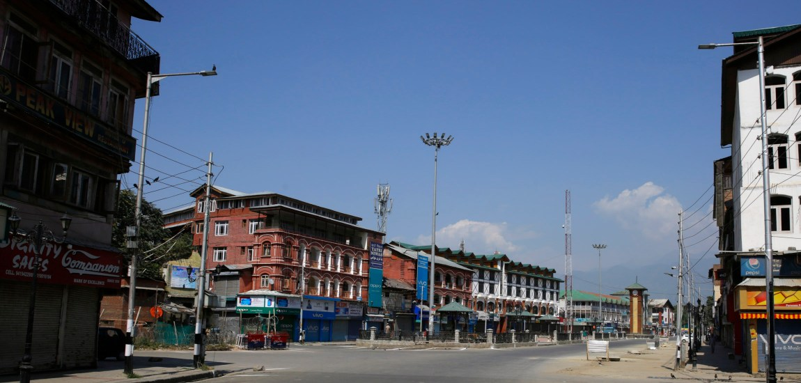 35A: A complete shutdown was observed in Kashmir…