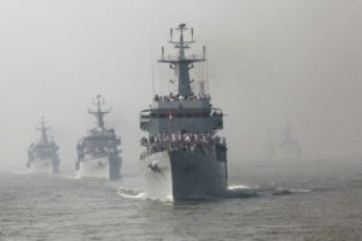 French anti-aircraft destroyer in India weeks after