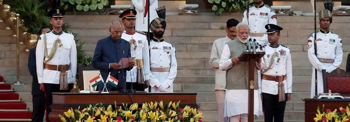 Team Modi takes oath of office