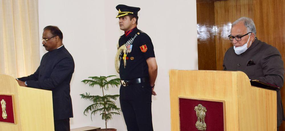 LG administers oath to Sharma as Chairman JKPSC
