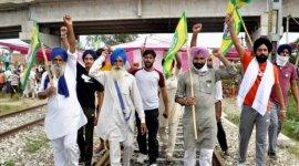 Farmers continue rail blockade in Amritsar