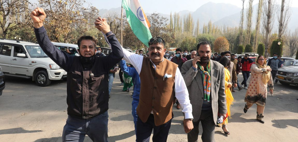 BJP takes out 'Tiranga' rally on 'Accession Day'