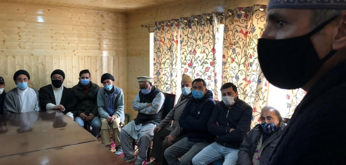 PAGD delegation visits Drass, Kargil