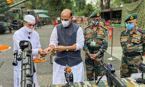 India wants end to border tension but will not cede an inch of land: Rajnath